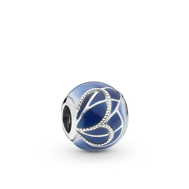 Pandora Blue Butterfly Wing Charm  - Click to view larger image