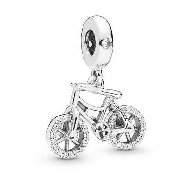 Pandora Brilliant Bicycle Pendant Charm  - Click to view larger image