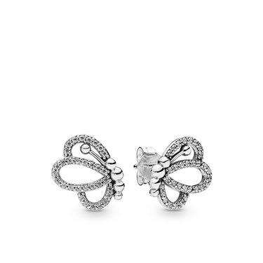 Pandora Silver Butterfly Outlines Stud Earrings  - Click to view larger image