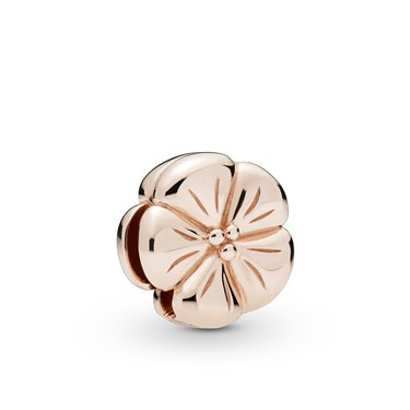 Pandora Reflexions Rose Classic Flower Clip Charm  - Click to view larger image
