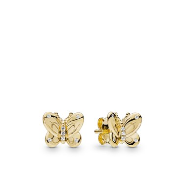 Pandora Shine Butterflies Stud Earrings  - Click to view larger image