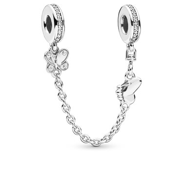 Pandora Decorative Butterflies Safety Chain  - Click to view larger image