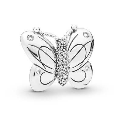 Pandora Decorative Butterfly Clip  - Click to view larger image
