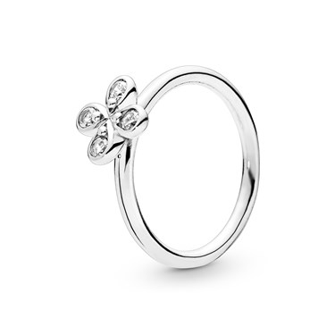 Pandora Silver Four-Petal Flower Ring  - Click to view larger image
