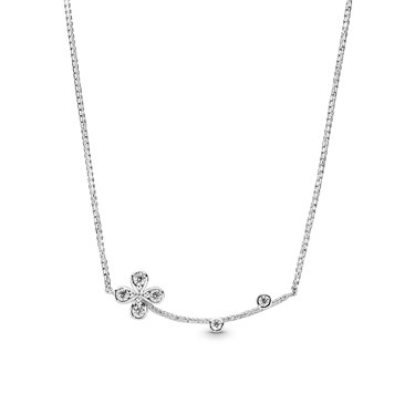 Pandora Four-Petal Flower Necklace  - Click to view larger image