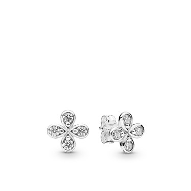Pandora Four-Petal Flowers Stud Earrings  - Click to view larger image