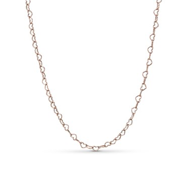 Pandora Rose Joined Hearts Necklace  - Click to view larger image
