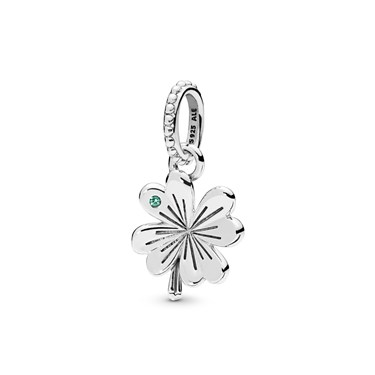 Pandora Lucky Four-Leaf Clover Pendant  - Click to view larger image