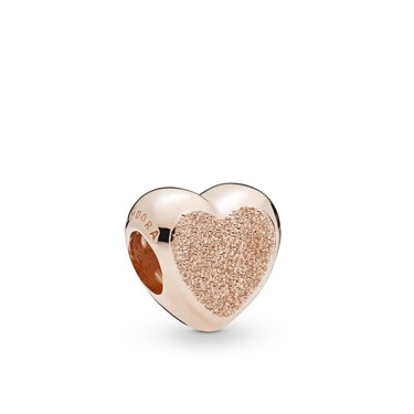 Pandora Rose Matte Brilliance Heart Charm  - Click to view larger image