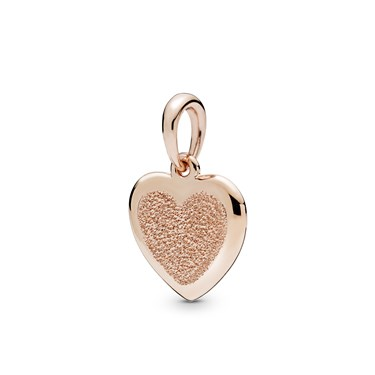 Pandora Rose Matte Brilliance Heart Pendant  - Click to view larger image