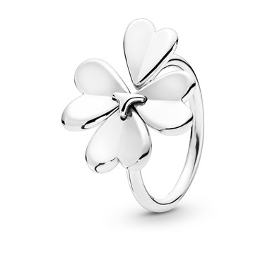 Pandora Silver Moving Clover Ring  - Click to view larger image