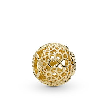 Pandora Shine Openwork Flower Charm  - Click to view larger image
