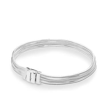 Pandora Reflexions Silver Multi Snake Chains Bracelet  - Click to view larger image