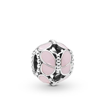 Pandora Pink Butterflies Charm  - Click to view larger image