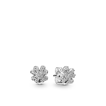 Pandora Radiant Clovers Stud Earrings  - Click to view larger image