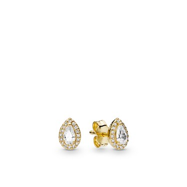 Pandora Shine Radiant Teardrops Stud Earrings  - Click to view larger image