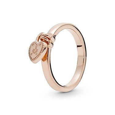 Pandora Rose Love Lock Ring  - Click to view larger image