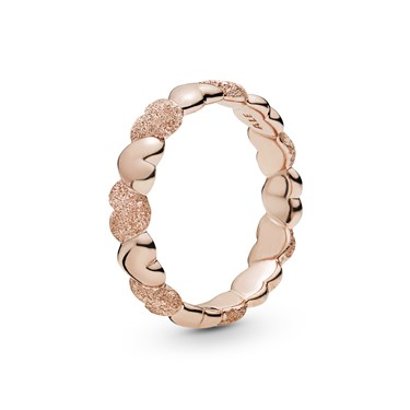 Pandora Rose Matte Brilliance Hearts Ring  - Click to view larger image