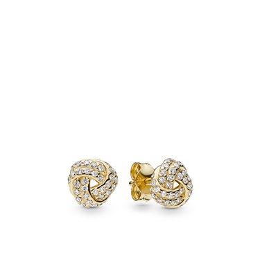 Pandora Shine Sparkling Love Knots Stud Earrings  - Click to view larger image