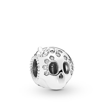 Pandora Sparkling Skull Charm  - Click to view larger image