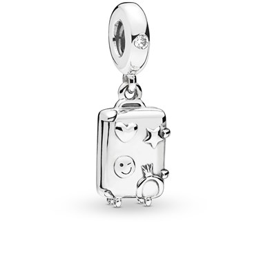 Pandora Suitcase Pendant Charm  - Click to view larger image