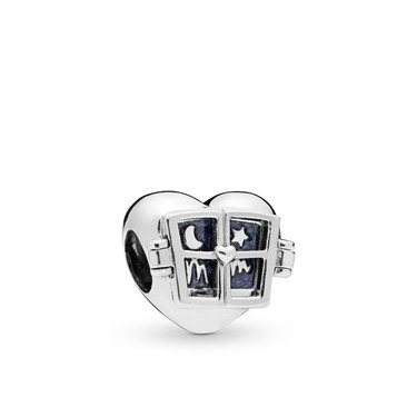 Pandora Mum Window Heart Charm  - Click to view larger image