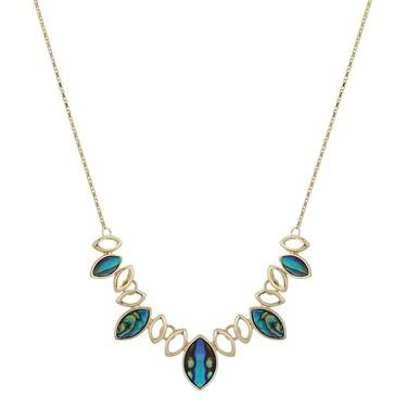 August Woods Gold Abalone Multi Teardrop Necklace