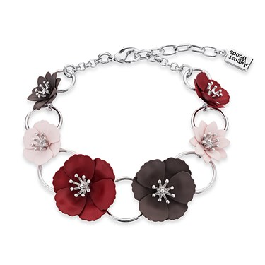 Dirty Ruby Silver Utility Floret Bracelet  - Click to view larger image