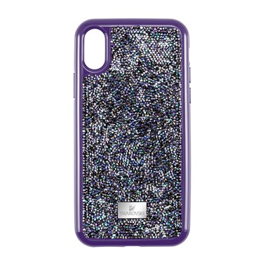 Swarovski Purple Glam Rock iPhone X/XS Case  - Click to view larger image