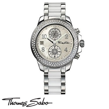 Thomas Sabo White Steel It Girl Watch