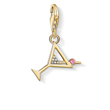 Thomas Sabo Gold Cocktail Charm  - Click to view larger image