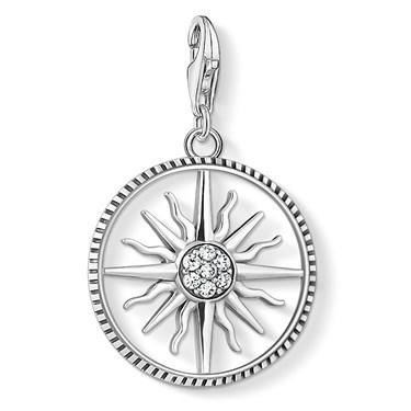 Thomas Sabo Crystal Sun Charm  - Click to view larger image