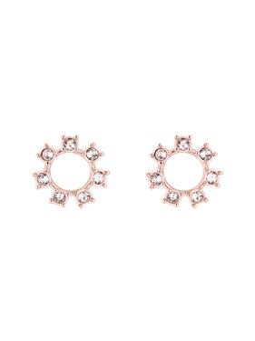 Ted Baker Rose Gold Crystal Clockwork Earrings  - Click to view larger image