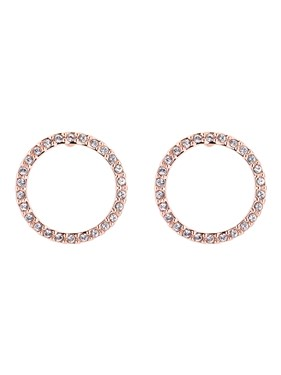 Ted Baker Rose Gold Linzzi Luunar Circle Earrings  - Click to view larger image