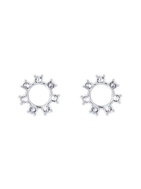 Ted Baker Silver Crystal Clockwork Earrings  - Click to view larger image