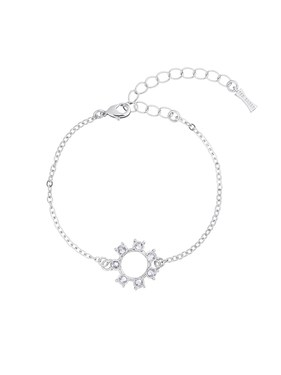 Ted Baker Silver Crystal Clockwork Bracelet  - Click to view larger image