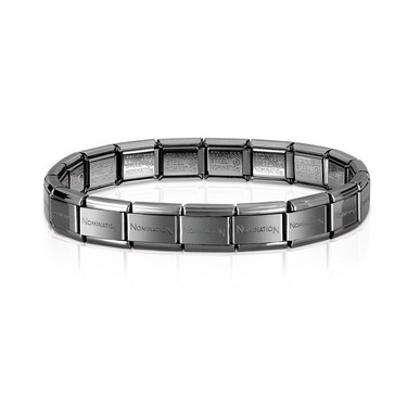 Nomination Classic Gunmetal Base Bracelet  - Click to view larger image