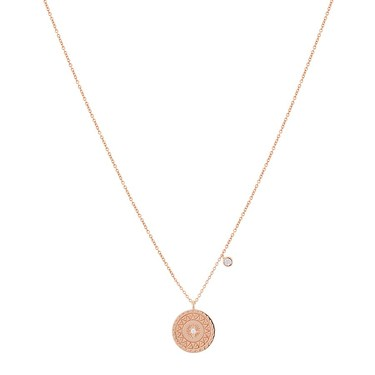 Argento Rose Gold Sun Coin Necklace  - Click to view larger image