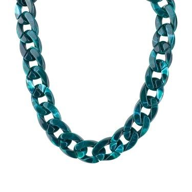 August Woods Green Acrylic Chain Necklace  - Click to view larger image
