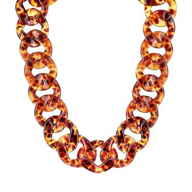 August Woods Tortoiseshell Chain Necklace  - Click to view larger image