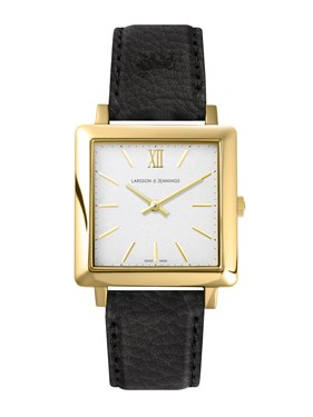Larsson & Jennings  Norse Black + Gold 34mm Watch  - Click to view larger image