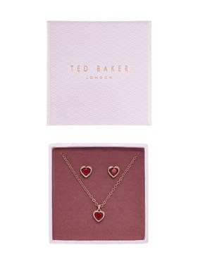 Ted Baker Rose Gold Hadeya Crystal Heart Gift Set   - Click to view larger image
