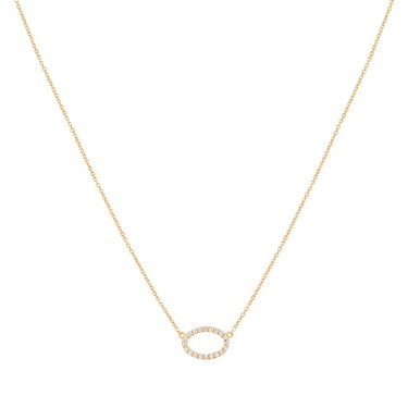 Argento Gold Crystal Oval Necklace  - Click to view larger image