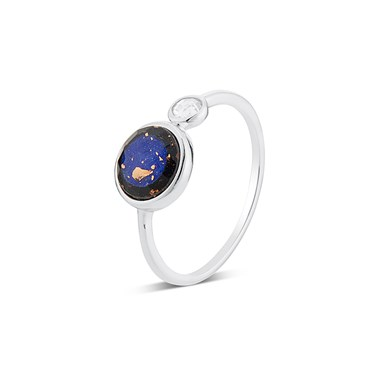 Argento Blue Lapis Imprints Ring  - Click to view larger image