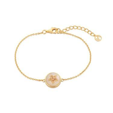 Argento Mother of Pearl Imprints Star Bracelet  - Click to view larger image
