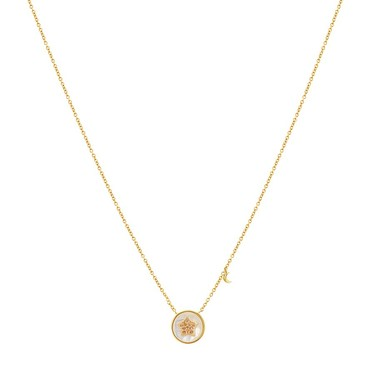 Argento Mother of Pearl Imprints Star Necklace  - Click to view larger image