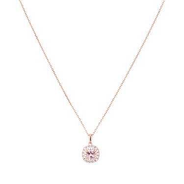 Argento Rose Gold Imperial Round Pink Necklace  - Click to view larger image