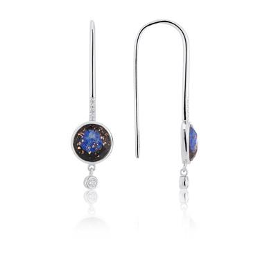 Argento Blue Lapis Imprints Drop Earrings  - Click to view larger image