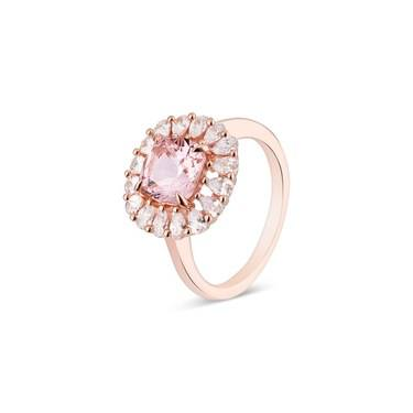 Argento Rose Gold Imperial Round Pink Ring  - Click to view larger image
