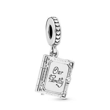Pandora Family Book Pendant Charm  - Click to view larger image